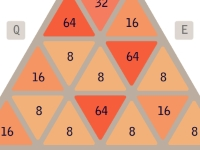 Флеш игра 2048 в треугольнике
