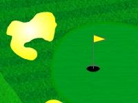 Флеш игра 2D гольф на поле