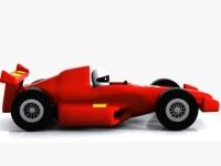Флеш игра 3D Нарисованный автомобиль формулы 1: Пазл