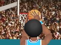 Флеш игра 3Д баскетбол - тренировка трех очковых