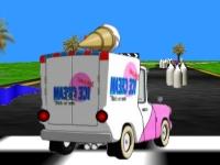 Флеш игра 3D гонка на фургоне с мороженым
