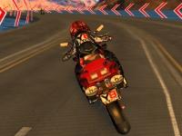 Флеш игра 3D гонка на мотоцикле
