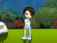 Флеш игра 3д гольф с милой девушкой