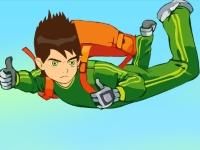 Флеш игра Бен 10 прыгает с парашютом