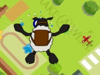 Флеш игра Баран Чоп Дроп прыгает с парашютом