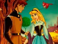 Флеш игра Спящая красавица и принц: Пазл
