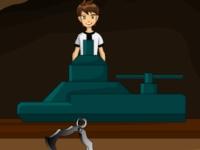 Флеш игра Бен 10 ищет алмазы