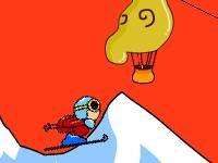 Флеш игра Агрессивное катание на лыжах