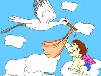 Флеш игра Аист и ребенок