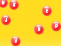 Флеш игра Алфавитные шарики