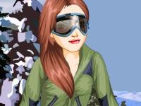 Флеш игра Алина катается на лыжах