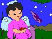 Флеш игра Ангелочек в саду