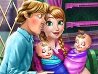 Флеш игра Анна дома с близнецами