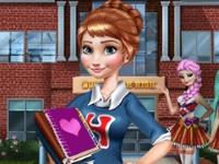 Флеш игра Анна готовится к школе