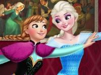Флеш игра Анна и Эльза на роликах