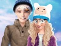Флеш игра Анна и Эльза на зимних свиданиях