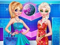 Флеш игра Анна и Эльза собираются на вечеринку