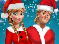Флеш игра Анна и Кристофф встречают Рождество