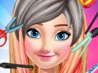 Флеш игра Анна в твоей парикмахерской
