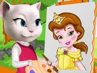 Флеш игра Анжела рисует принцессу Белль