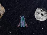 Флеш игра Астероидное поле