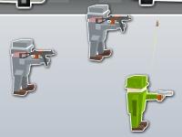 Флеш игра Атака кубических солдат