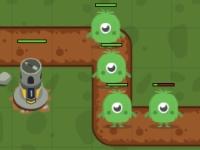 Флеш игра Атака монстров: Защити базу