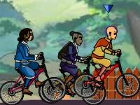 Флеш игра Аватар Аанг: Гонка на велосипедах