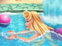 Флеш игра Аврора плавает в бассейне