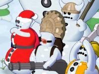 Флеш игра Бабушка против снеговиков