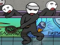 Флеш игра Бадминтон со стикменами 2