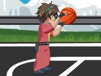 Флеш игра Бакуган играет в баскетбол