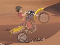 Флеш игра Бакуган на байке в пустыне