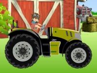 Флеш игра Бакуган на тракторе в деревне