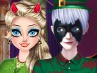 Флеш игра Бал на Хэллоуин у персонажей Диснея