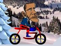 Флеш игра Барак Обама на велосипеде
