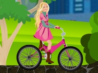 Флеш игра Барби: Гонка на велосипеде