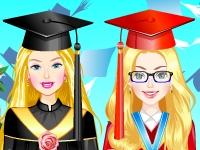 Флеш игра Барби и Элли готовятся к вручению дипломов