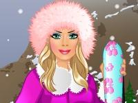 Флеш игра Барби катается на лыжах