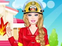Флеш игра Барби пожарный