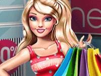 Флеш игра Барби с дочкой идут в магазин