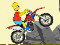 Флеш игра Барт Симпсон на байке