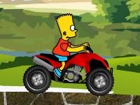 Флеш игра Барт Симпсон на квадроцикле