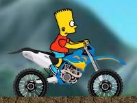 Флеш игра Барт на байке