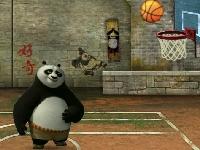 Флеш игра Баскетбол с Кунг фу Пандой