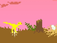 Флеш игра Беги динозавр: Планета Д