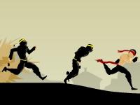 Флеш игра Беги, ниндзя, беги 3: Нежданный путь