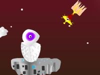 Флеш игра Беги вперед уходи от пришельца