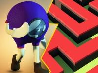 Флеш игра Бегун по лабиринту 3D: Охота за картами 2018