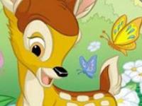 Флеш игра Бэмби: собери пазл